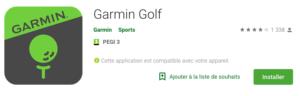 fandegolf.fr - garmin golf playstore