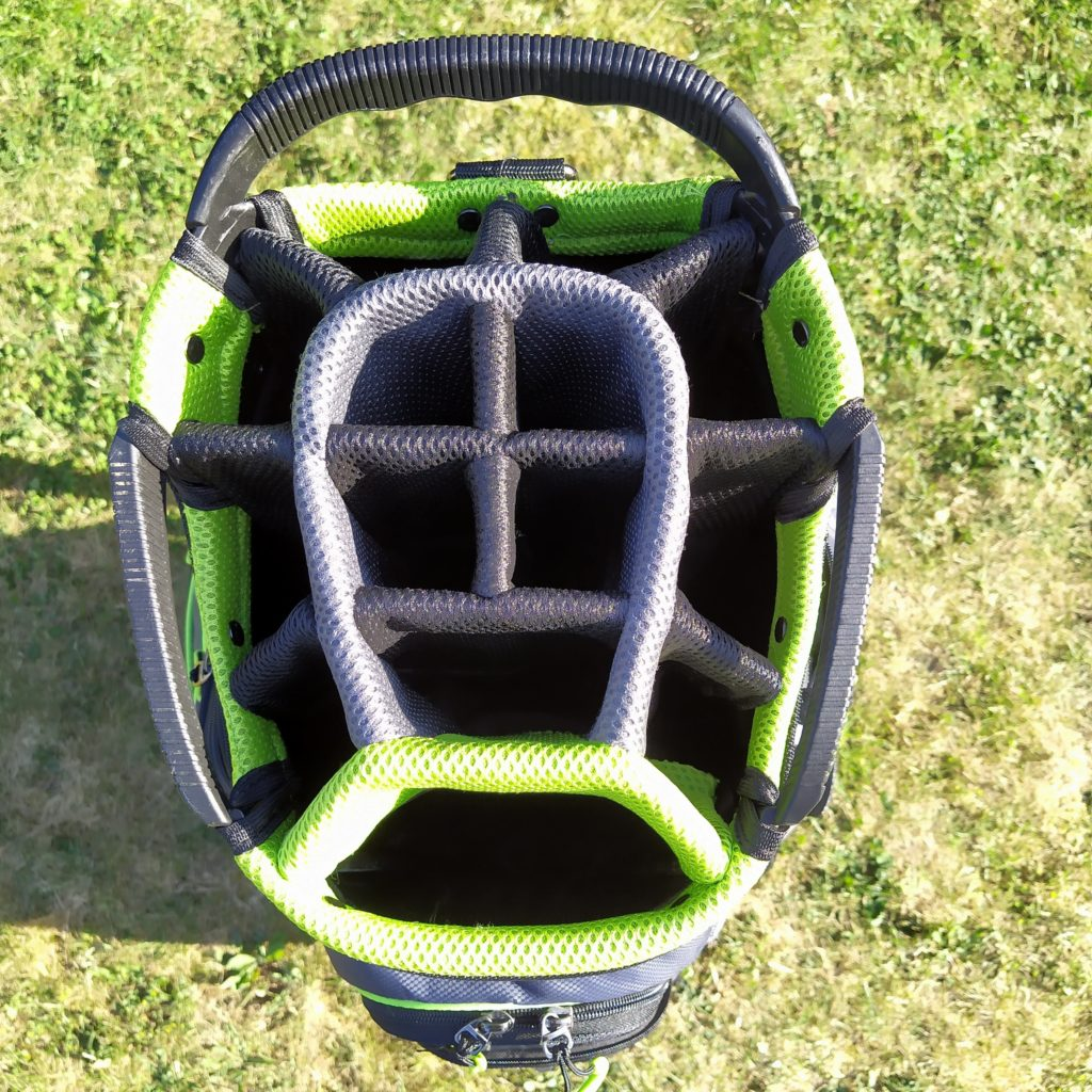 fandegolf - sac de golf - compartiment clubs de golf