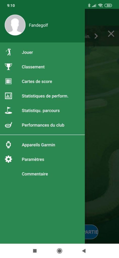 fandegolf.fr -  application golf garmin golf
